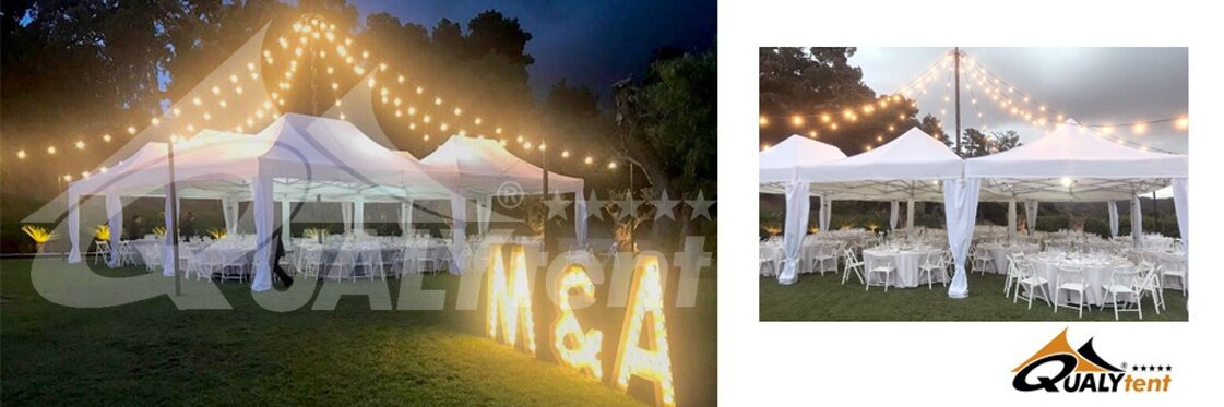 Carpas plegables elegantes para bodas y ceremonias