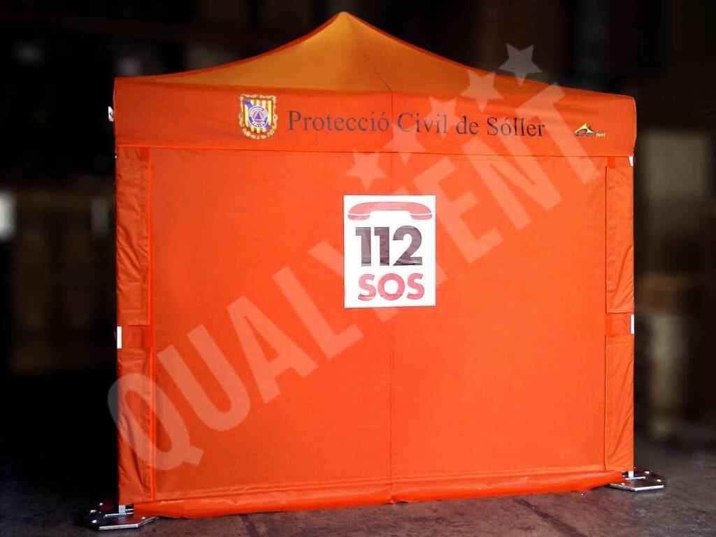 Carpa protección civil soller, carpas de 3x3