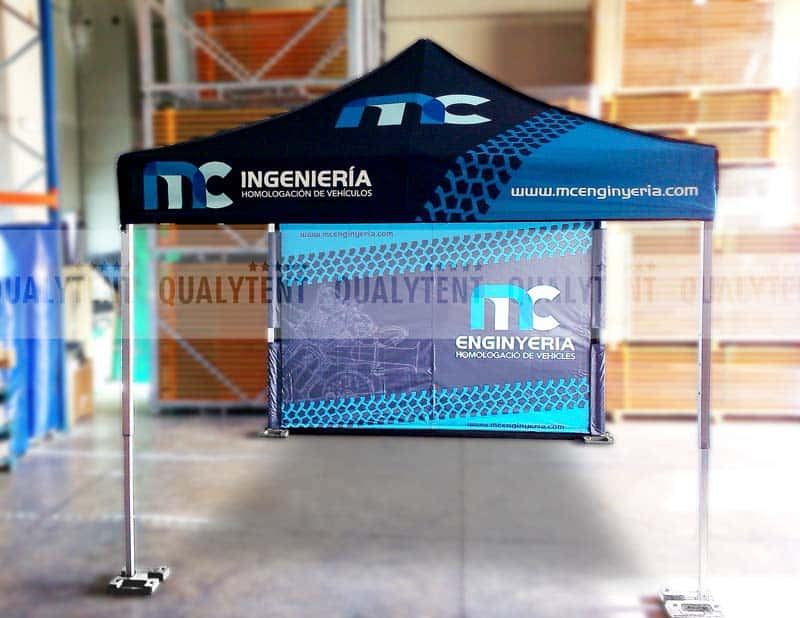 Carpa plegable Premium de 3x3m estampada
