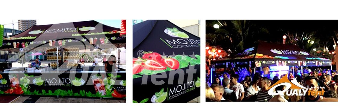 Carpas plegables full print para Mojito Club de Qualytent