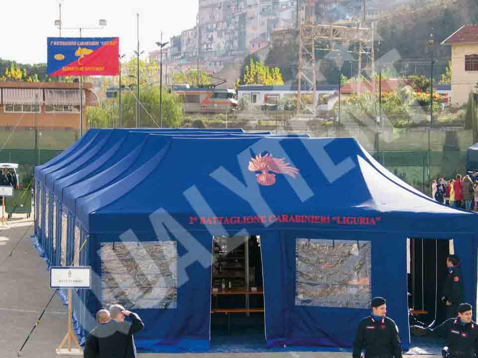 Carpas Rescue para  los Carabinieri, carpas 4x8