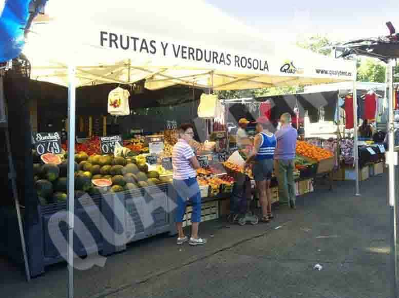 Carpas plegables para mercados y fruteros