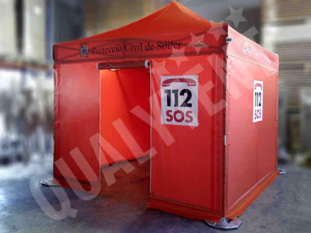 Carpas plegables para equipos de emergencias de Qualytent
