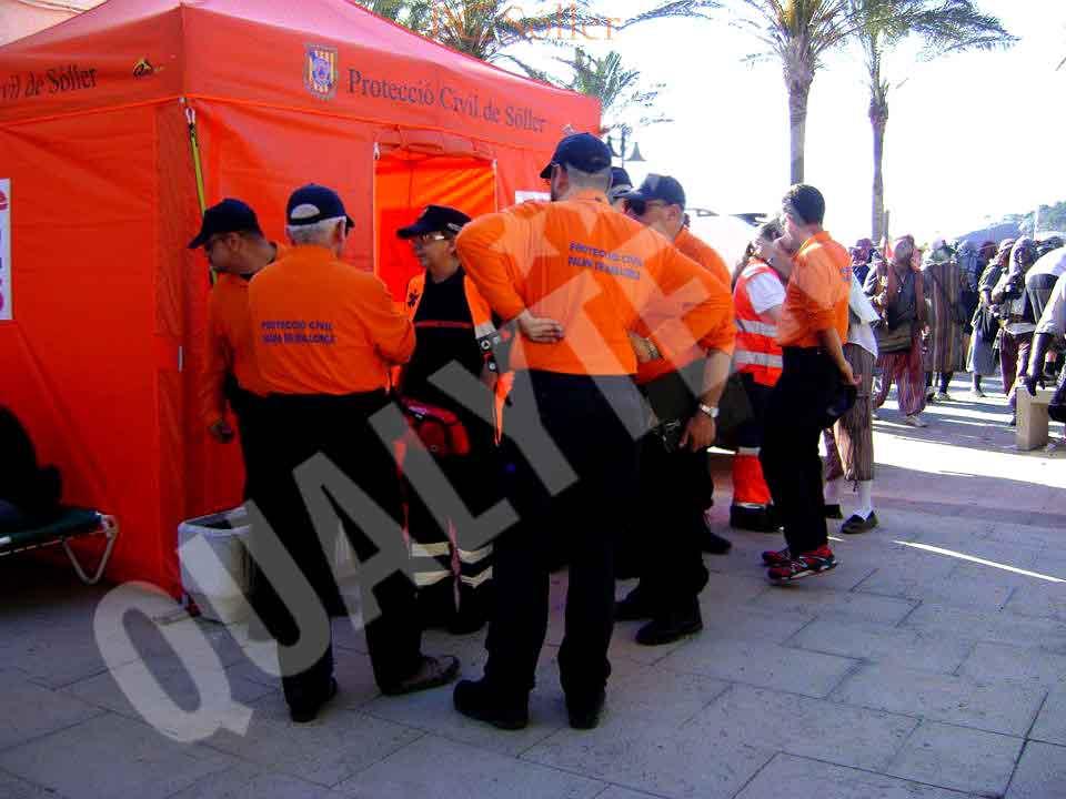 Carpa plegable de 3x3m Rescue Protección Civil
