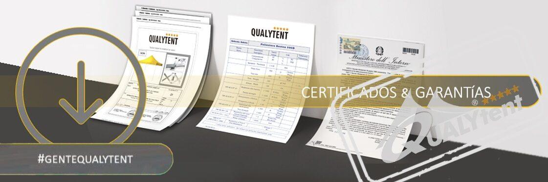 Certificados carpas plegables Qualytent