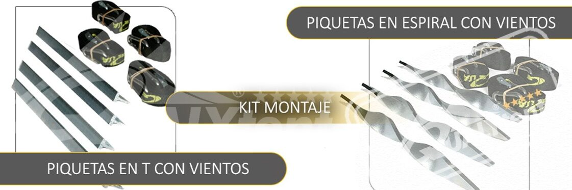 Carpas plegables QT S45 kit de montaje