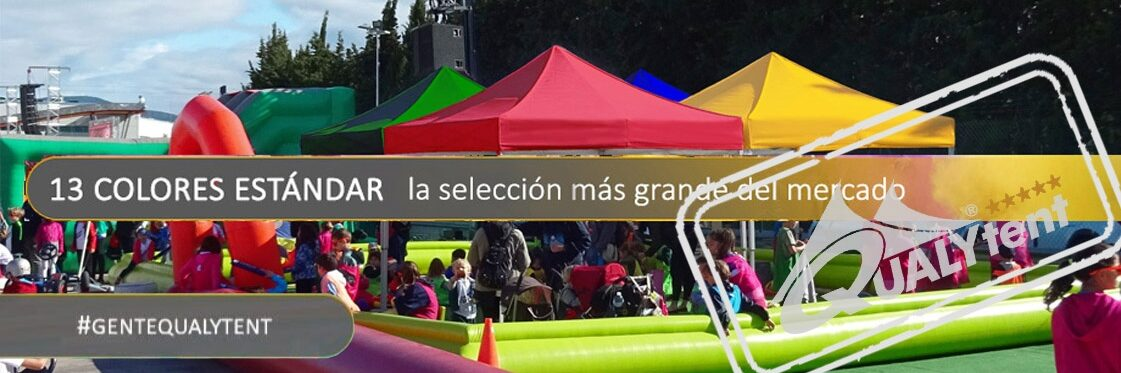 Carpas plegables de colores de Qualytent