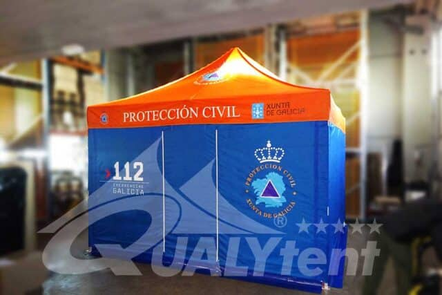 Carpa plegable para Protección Civil Xunta de Galicia