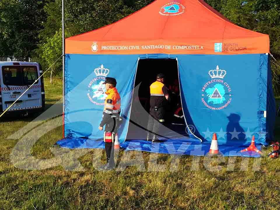 Carpa plegable Rescue de 5x5m para Protección Civil