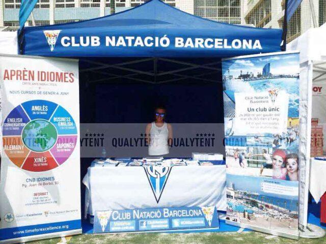 Carpa plegable Club Natació Barcelona de 3x3