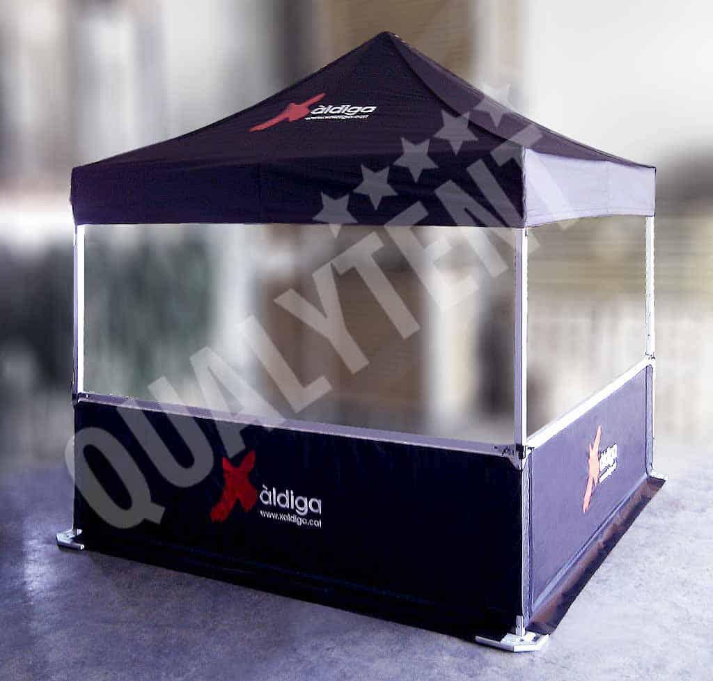 Carpa plegable personalizada de 3x3m de color negro