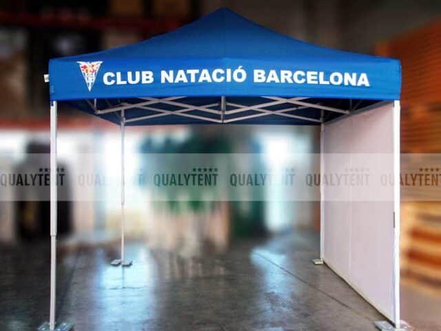 Carpa plegable Club Natació Barcelona Premium de 3x3m azul