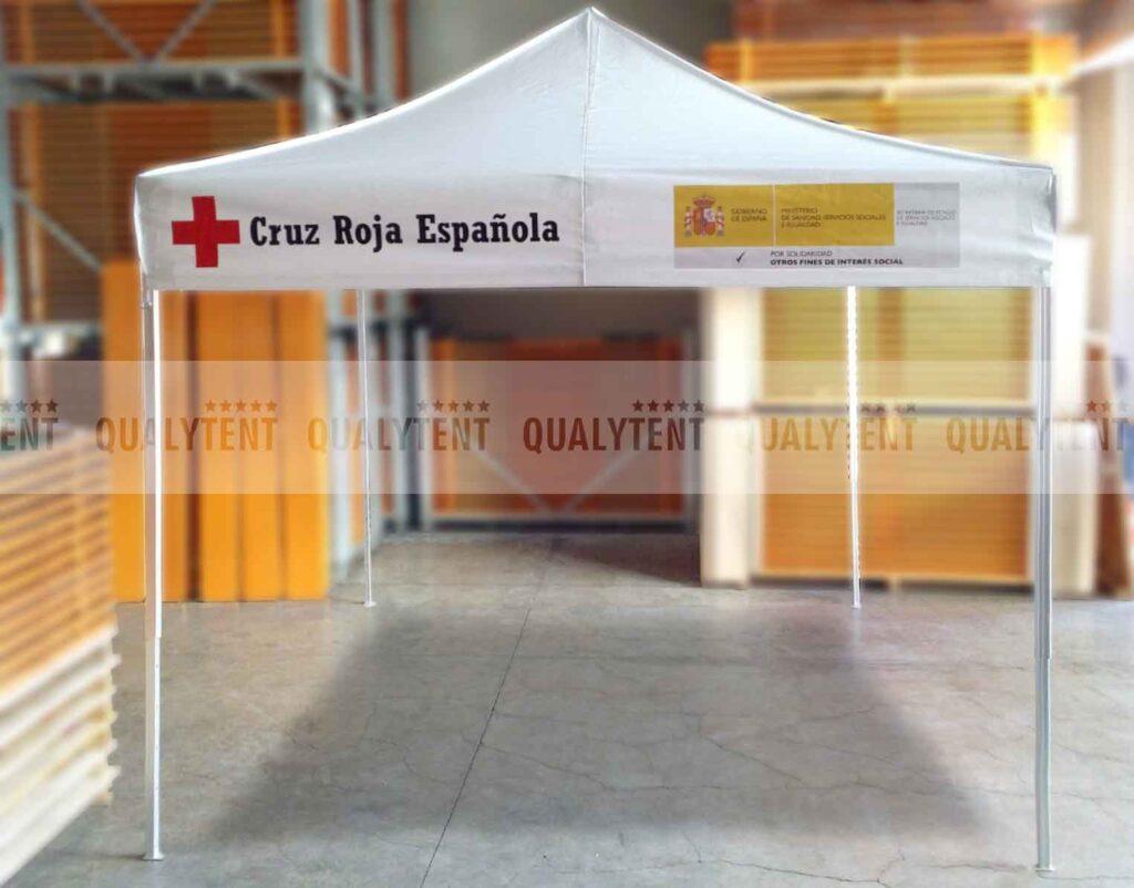 Carpa personalizada para la Cruz Roja