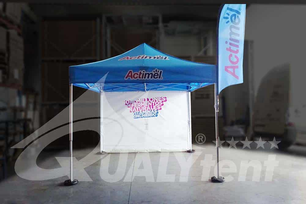 Carpa plegable de 3 por 3 customizada para Actimel