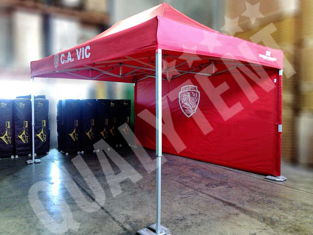 Carpa plegable de 4.5x3m Premium de color rojo