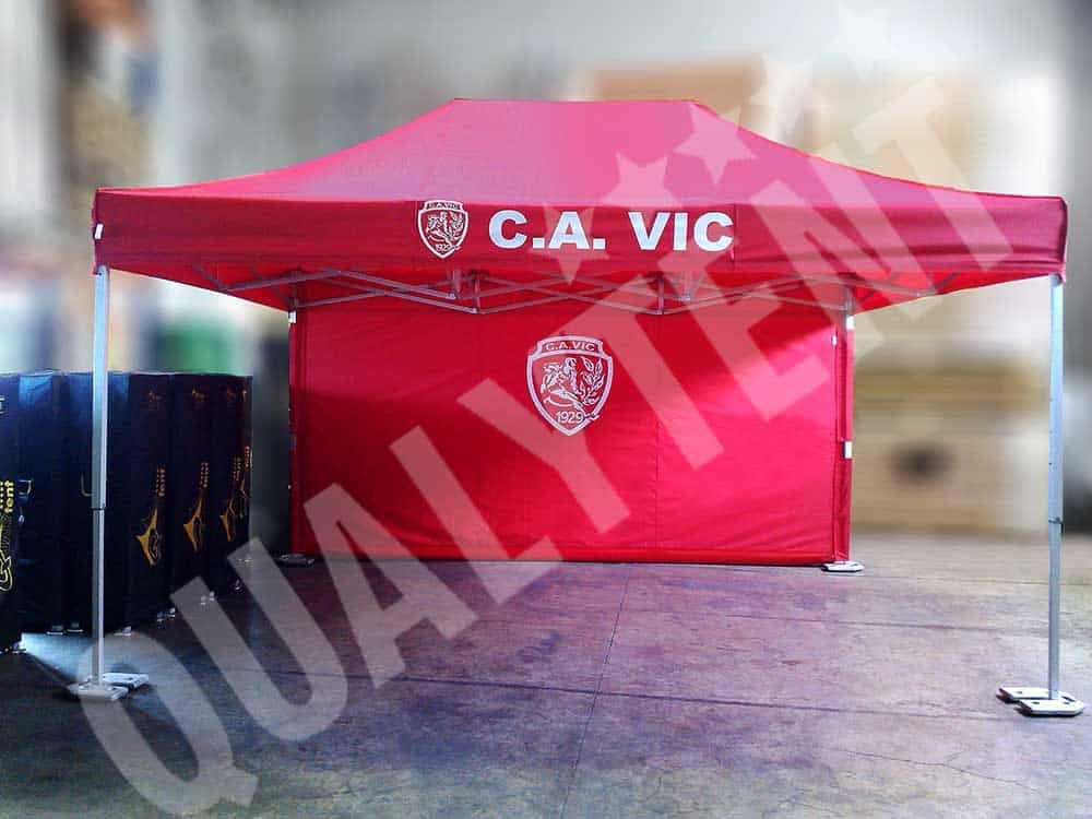 Carpa estampada para Club Atletic Vic de Qualytent