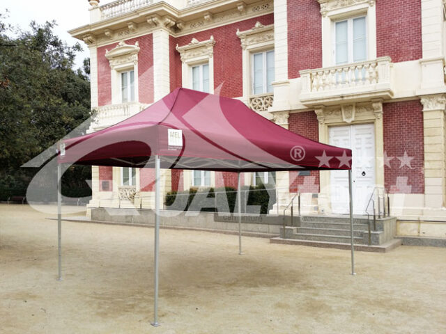 Carpa plegable 3x4.5m burdeos