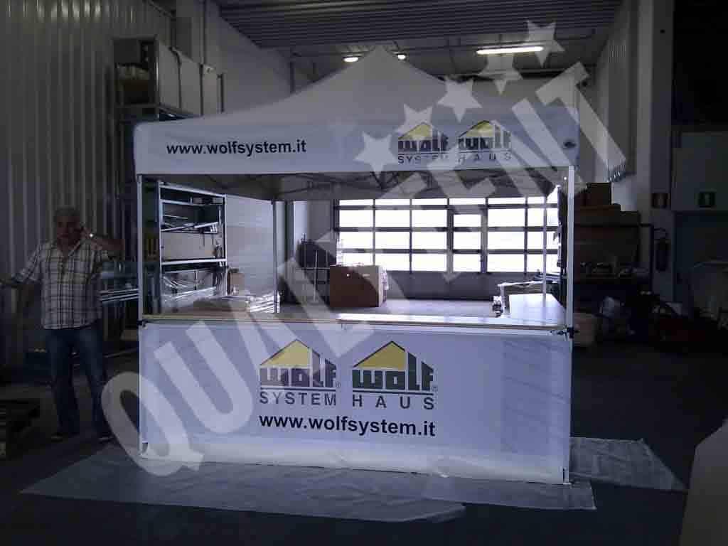 Fabricantes de carpas plegables con mostrador