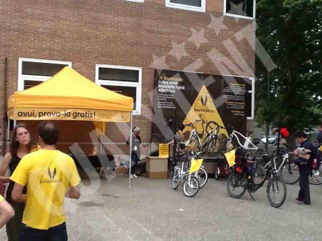 Carpas de color amarillo de 3x3m para empresas