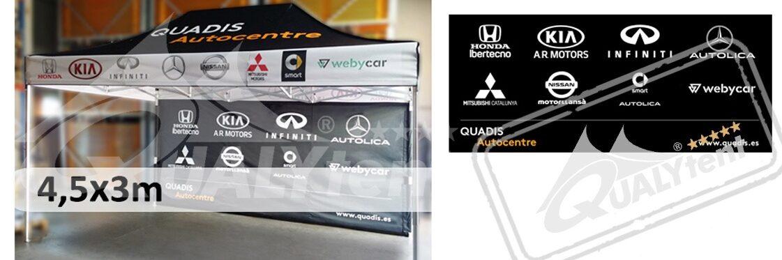 Carpas plegables Qualytent de 3x4.5m Premium