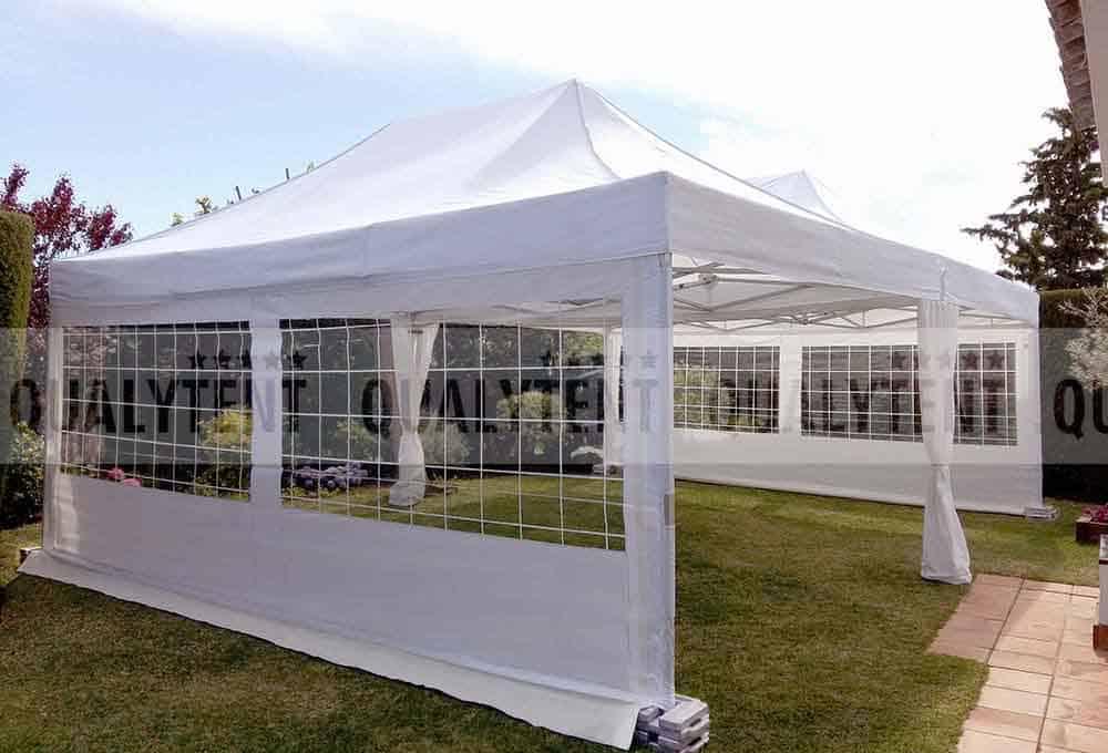 Carpas blancas de montaje modular para eventos de Qualytent