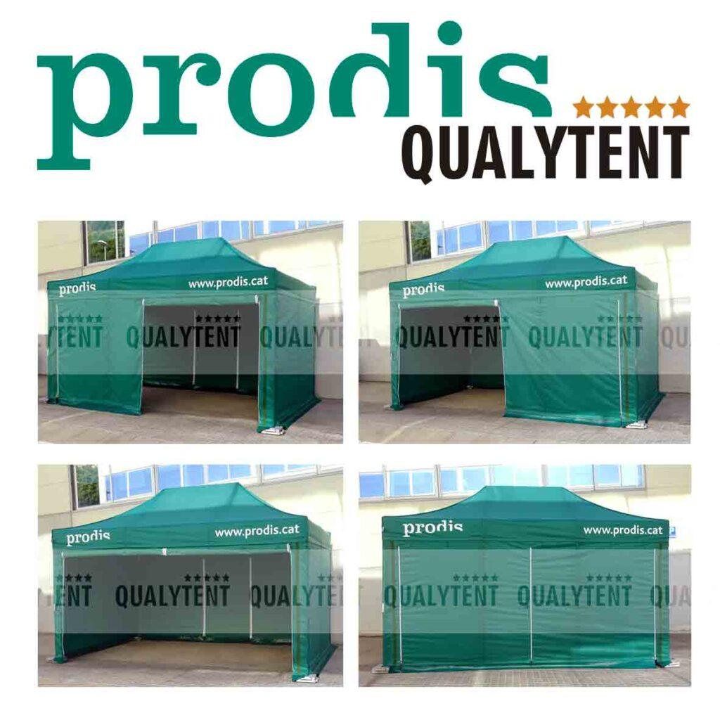 Carpas plegables personalizadas de Qualytent