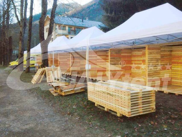 Carpa modular de 30x4m para ferias de Qualytent