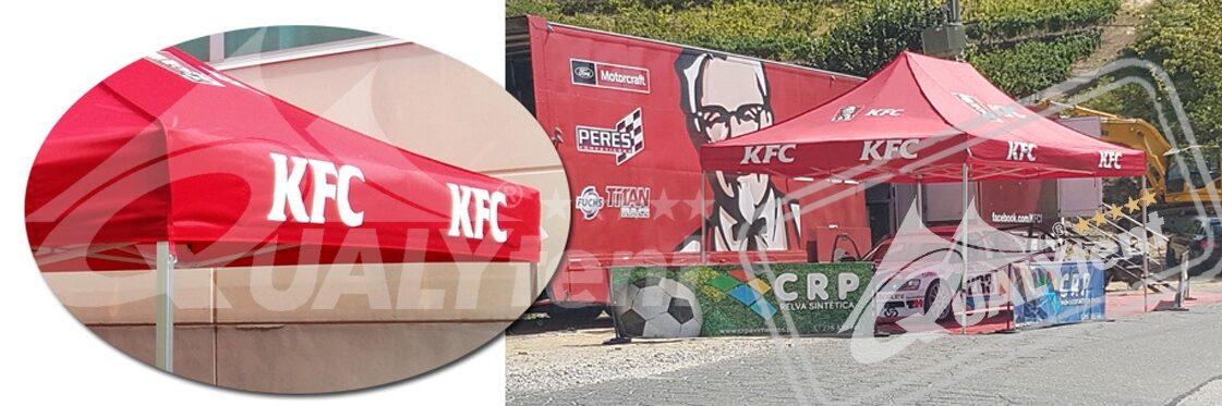 Carpas plegables de 4x6m full print para KFC de Qualytent