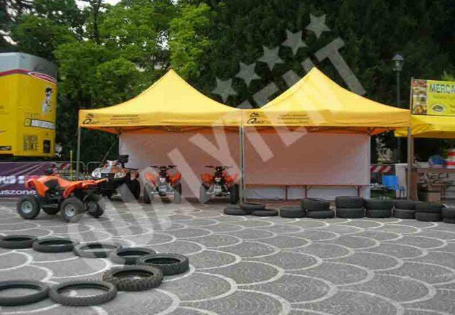 Carpas plegables amarillos de montaje modular