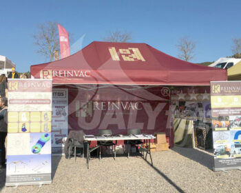 Carpa 4.5x3m de color granate de Qualytent