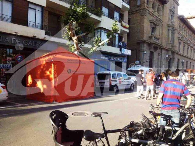 Carpas para Protección Civil de Huesca