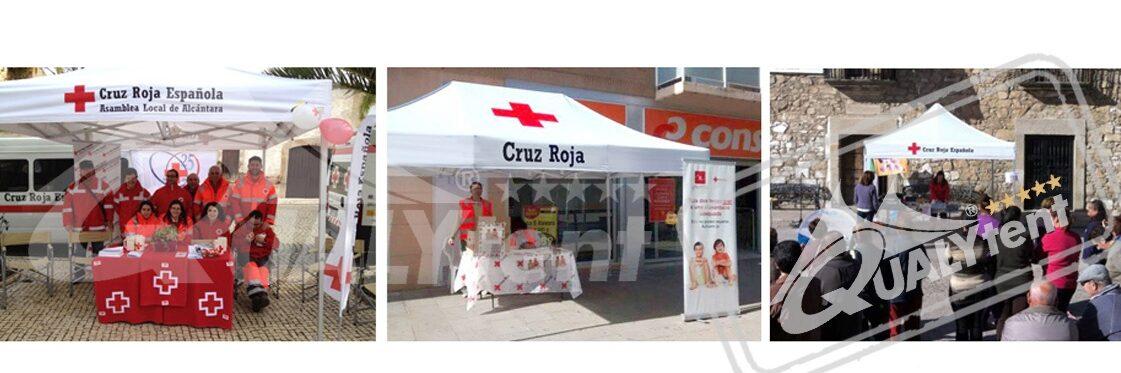 Carpas plegables para Cruz Roja de Qualytent