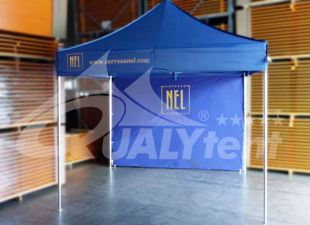 Carpa plegable de 3x3m azul