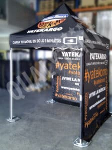 Carpa plegable de 2x2m full print