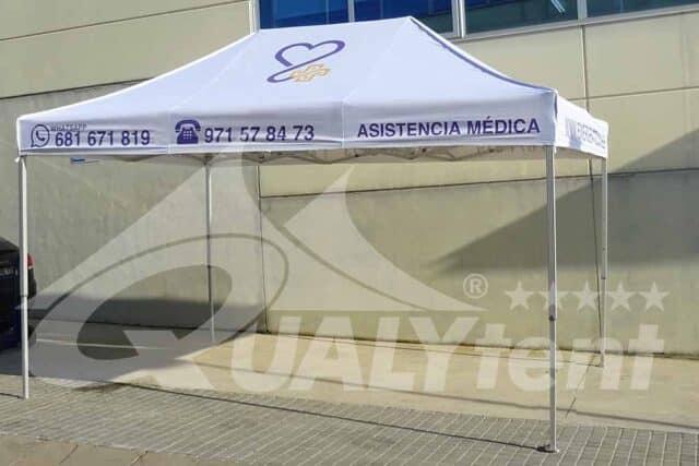 Carpas plegables equipos sanitarios de 3x4.5m