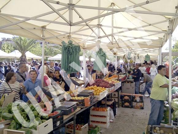 Carpas para fruteros y mercados