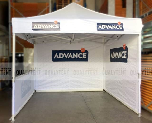 Carpas de 3x3 rotuladas Advance