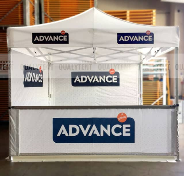 Carpa plegable rotulada Advance