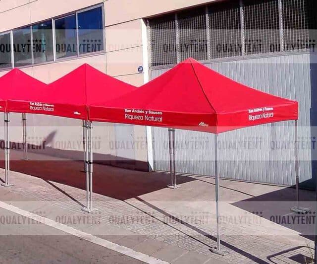 Carpas de color rojo de 3x3m