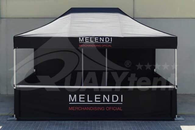 Carpa de 3x4.5m Premium rotulada para Melendi