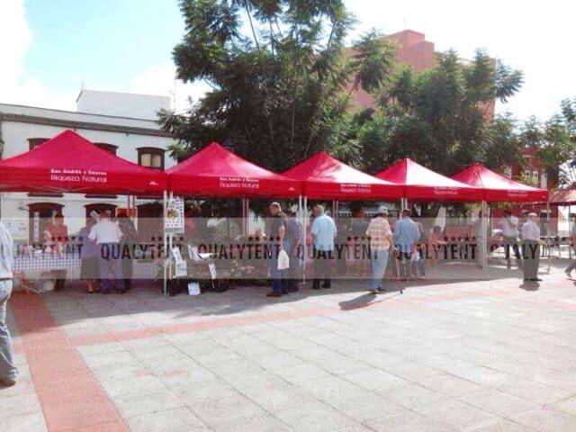 Carpas rotuladas ayuntamiento San Andrés y Sauces