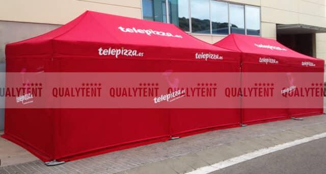Carpas personalizadas para Telepizza
