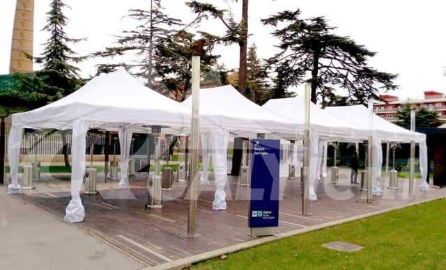 Carpa modular 16x6m para fiestas