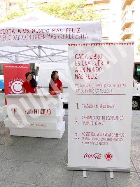 Carpa estampada 3x3 Coca Cola